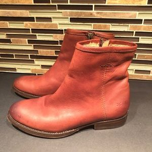 Frye Leather Zip Up Boots Size 7B